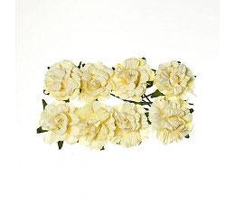Fleurs (8) crème Scrapberry's