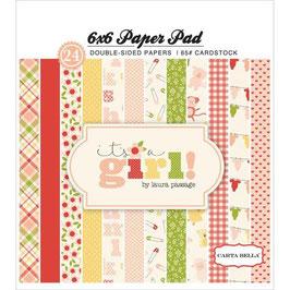 Carta Bella It's A Girl Dots & Stripes  _Pad 15*15
