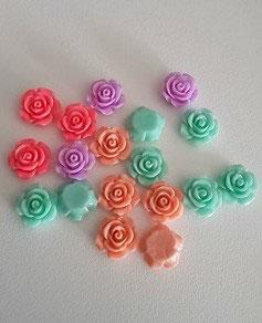 Rose résine 15mm