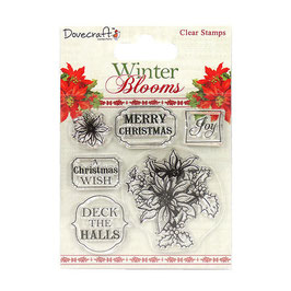 "Tampons Clear ""Poinsettias """