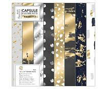 PAck 30*30cm / Capsule Elements Metallic (36 feuilles)