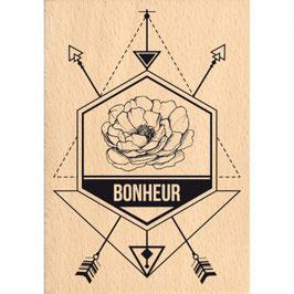 Tampon bois DIRECTION LE BONHEUR_FD