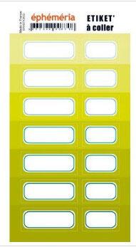 Stickers nuances de vert anis