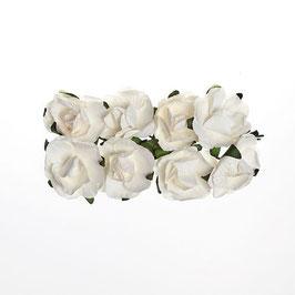 Fleurs (8) blanche Scrapberry's