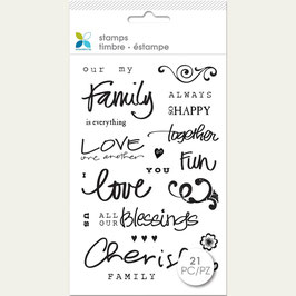 """Momenta Clear Stamps 4""""X7.5"""" Family"""