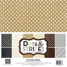 Echo Park Dots & Stripes Neutrals  30*30cm
