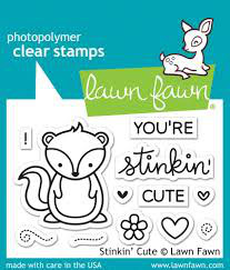 TAMPONS TRANSPARENTS 'LAWN FAWN 'STINKIN CUTE