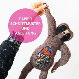 Papieranleitung und Schnittmuster FAULTIER LU