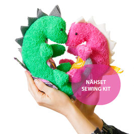 Happy Sewing Kit DINO GEOFFREY und DINO GEORGINA