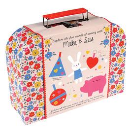 Make and Sew Set im Blumenkoffer (Kinder)