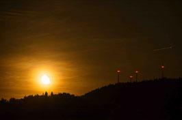 Mondstimmung über Freiburg