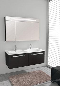 Möbelset mit Doppelwaschtisch 1210mm