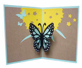 Carte Pop-Up papillon