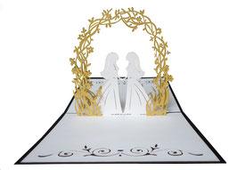 Mariées sous arche fleurie (FF)