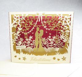 Diorama Félicitations Mariage