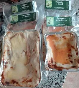 ° Lasagnes ou Parmentier de canard