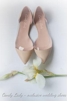 Кремовые балетки с силиконовой вставкой. Оттенок более светлый чем на фото. Скидка при заказе через интернет-магазин 10%