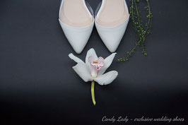 Молочные балетки с  силиконовой вставкой. При заказе через интернет-магазин бонус - 10% скидка