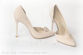 Туфли замшевые, каблук 10 см