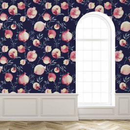 WALLPAPER lait grenadine rose/bleu