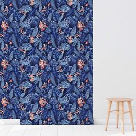 WALLPAPER forêt vierge bleu/bleu