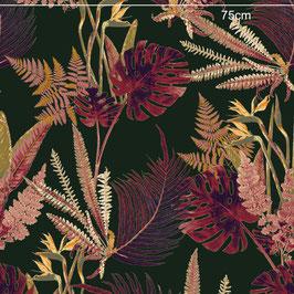 WALLPAPER feuilles sauvages rose/vert