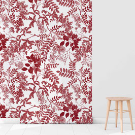WALLPAPER ombres chinoises rouge/creme