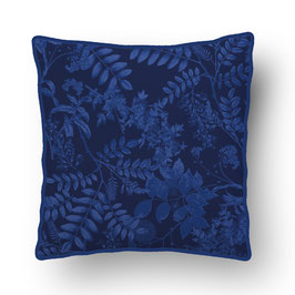CUSHION with PIPED EDGES ombres chinoises bleu/bleu