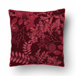 CUSHION with PIPED EDGES ombres chinoises sienna/sienna