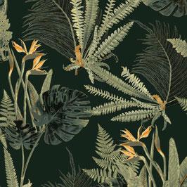 WALLPAPER feuilles sauvages vert/vert
