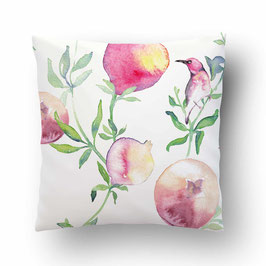 CUSHION pommes d'amour rose/blanc