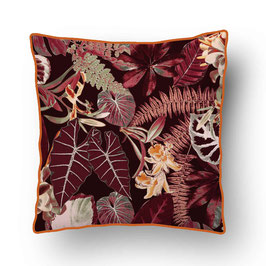 CUSHION with PIPED EDGES forêt vierge sienna/sienna