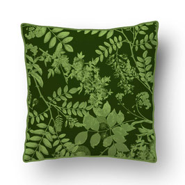 CUSHION with PIPED EDGES ombres chinoises vert/vert