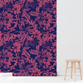 WALLPAPER ombres chinoises rose/bleu