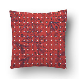 CUSHION noëlnoël  bleu/rouge