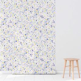 WALLPAPER terrazzo bleu/blanc