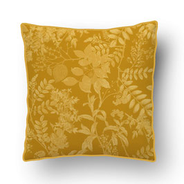 CUSHION with PIPED EDGES ombres chinoises ockre