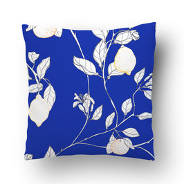 CUSHION citronnade blanc/bleu
