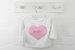 Herz T-Shirt mit Wunschnamen