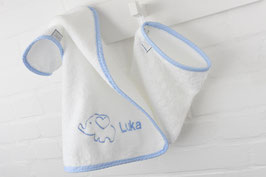 Handtuch und Waschhandschuh Set mit Wunschnamen