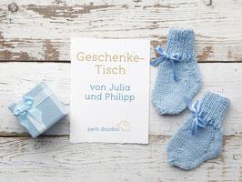 Geschenketisch von Julia & Philipp