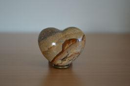 Landschafts-Jaspis-Herz - 4,5 cm