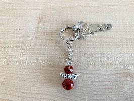 Jaspis rot-Engel-Schlüsselanhänger, Flügeltyp 4