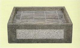 Brunnenschale Granit Quadrat
