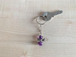 Amethyst-Engel-Schlüsselanhänger, Flügeltyp 6