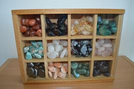 Trommelstein-Holz-Geschenkbox, gross