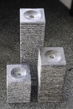 Granit-Sprudelsäulen, 3er Set
