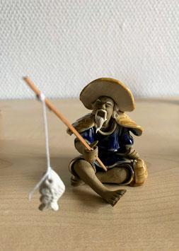 Bonsai-Figur 'Fischer' aus Keramik - 4