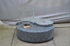 Granitstein Ying & Yang - Feuer und Wasser