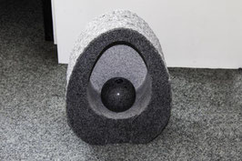 "Granitstein ""Firence"" mit integrierter Granit-Sprudelkugel"